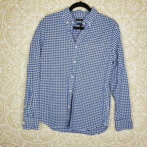 Banana Republic Cotton Gingham Grant Fit Shirt M